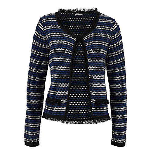 Damen Strickjacke Cardigan Dunkelblau Schwarz Weiss Gr 36 38 Amazon De Sport Freizeit Modestil Strickjacke Jacken