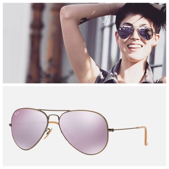 ray ban rb3025 original aviator 58mm  Ray Ban RB3025 58mm aviator Lavender sunglasses