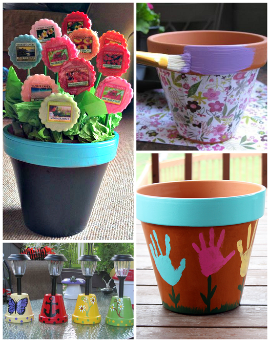Terracotta flower pots can make such great gifts for moms