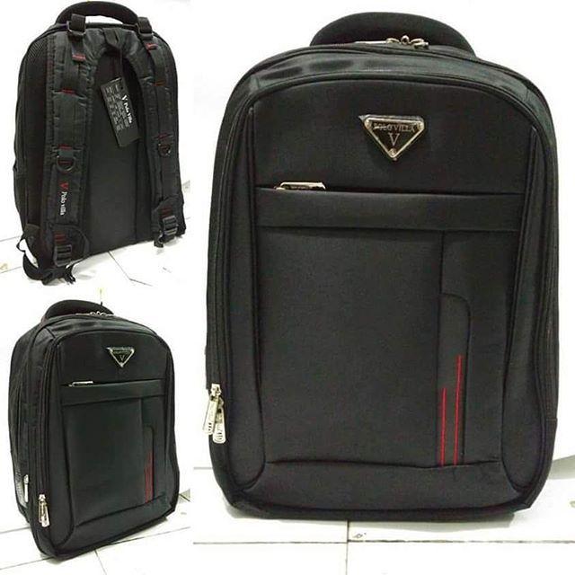 ⏩Tas Ransel Laptop POLO VILLA BLACK ⏩Rp 280.000  blm ongkir  ⏩Bahan Salur  Nylon Halus ⏩Size 45 cm x 29 cm x 15 cm ⏩Slot Laptop 14