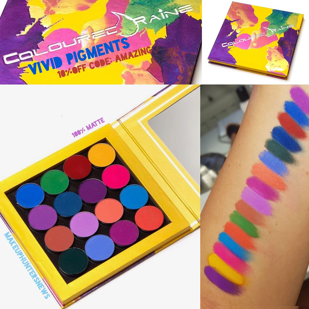 Coloured Raine Pigments Shadows Cr Launching Colouredraine 16 Brand New Colourful Eyeshadow