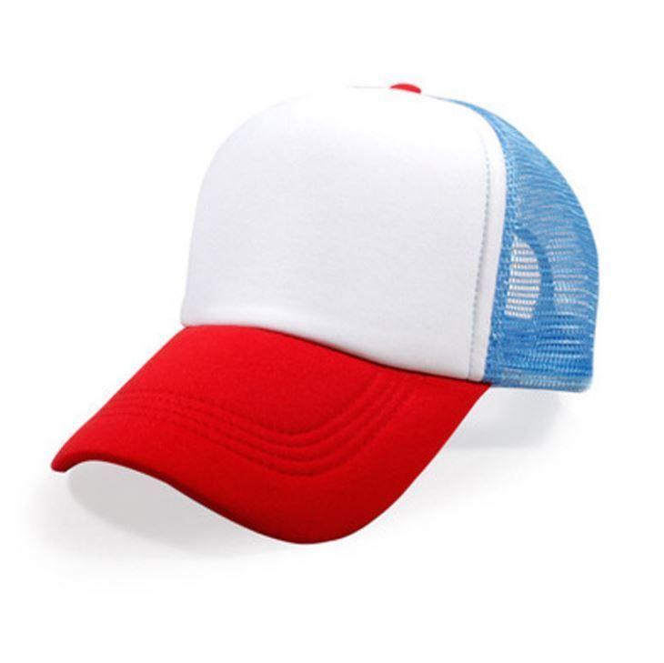 97c06af76f364 STRANGER THINGS Red White   Blue HAT Dustin retro Trucker Cap 80s ADJUSTABLE