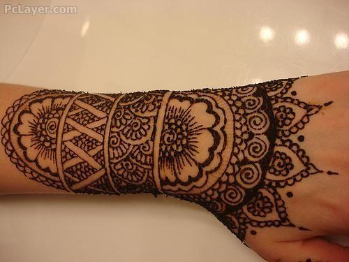 Mehndi For Tattoo : Real tattoo in mehndi style ideas hand henna designs
