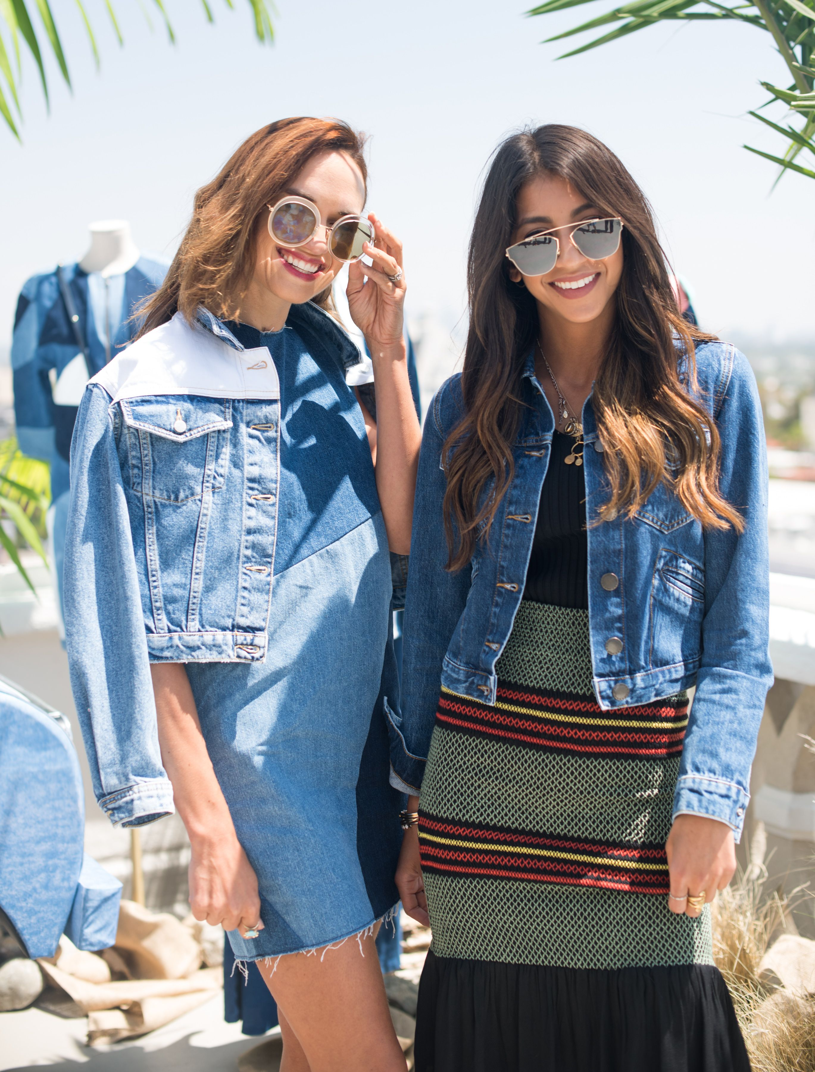 b8c1efe19 Shalice Noel and Kayla Seah , VALDA jacket- RATCH dress, Denim ...
