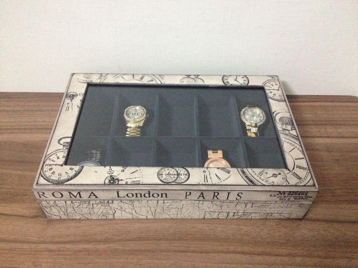 88f30874f80 Caixa para relógios | Ana Fraga Studio | Elo7 | cajas de regalo y ...
