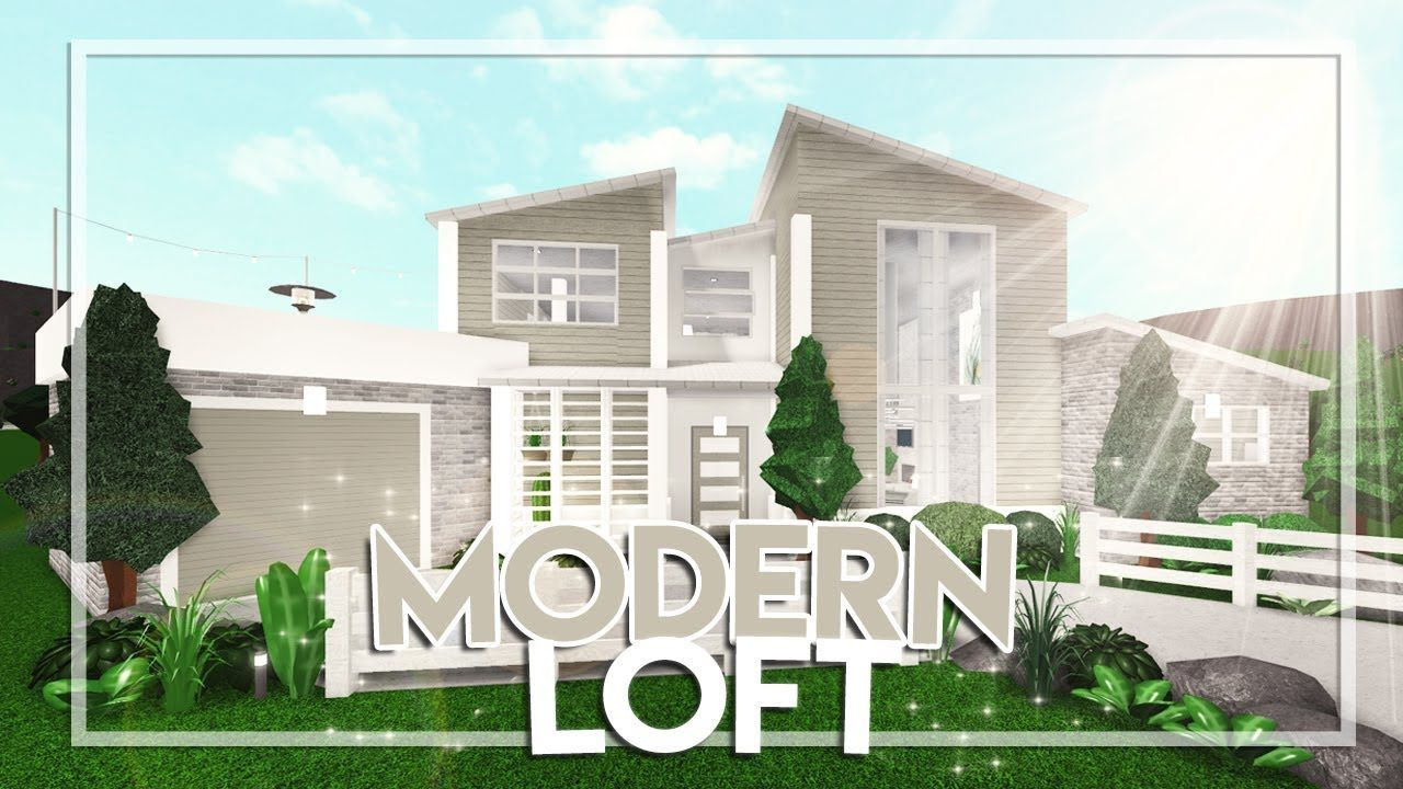 Welcome To Bloxburg Modern Loft 62k Youtube Modern Loft