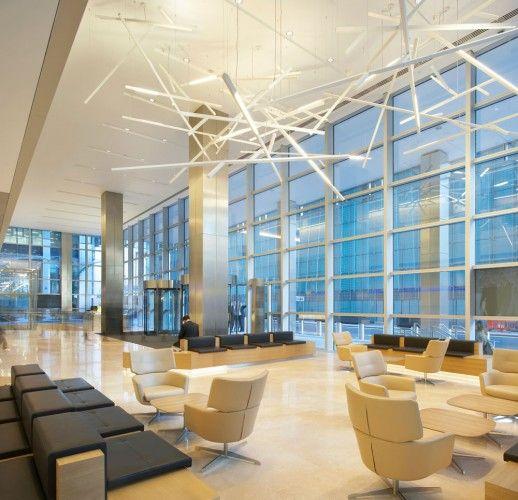 Paul nulty lighting design kpmg headquarters london for Commercial interior design london