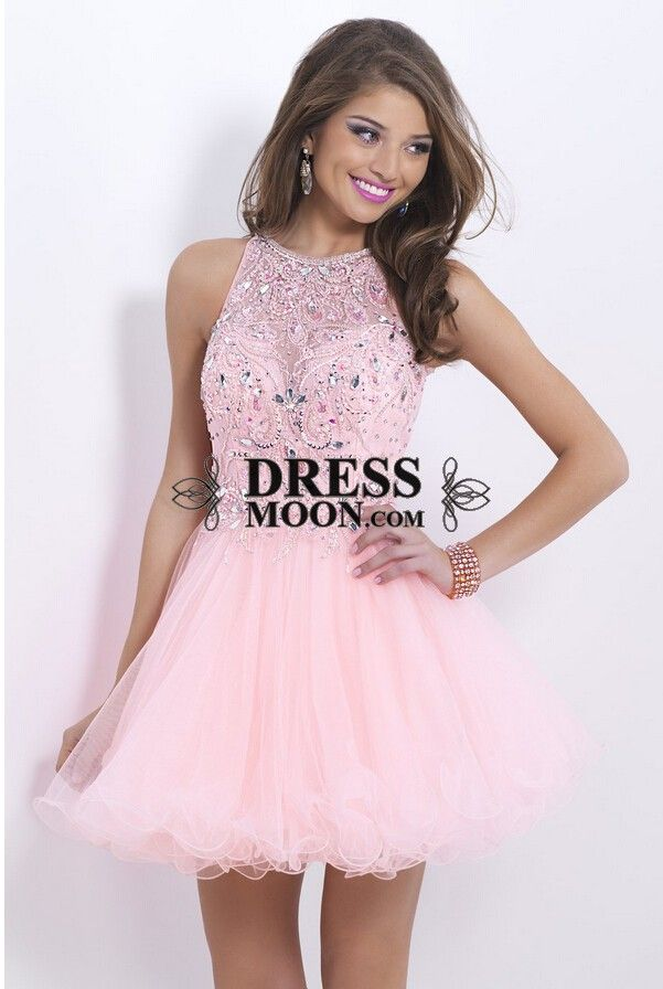 I like this - Lovely A line Scoop Neckline Pink Homecoming Dress. Do ...
