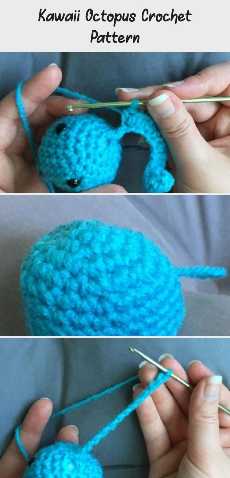 Kawaii Octopus Crochet Pattern  These amigurumi octopus plush toys are super easy to make, even f
