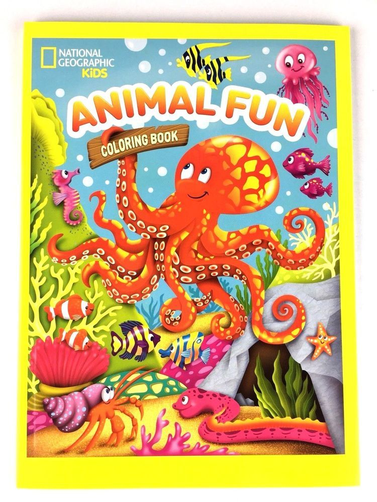 National Geographic Kids Animal Fun Coloring Book Sea Life and ...