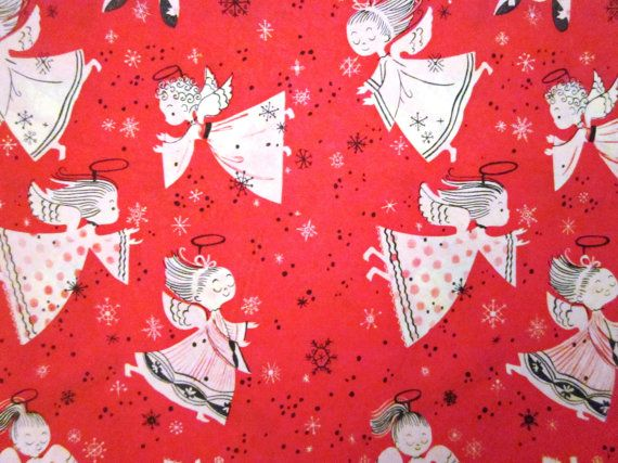 Vintage Wrapping Paper - Sweet Scenes Christmas Gift Wrap - One