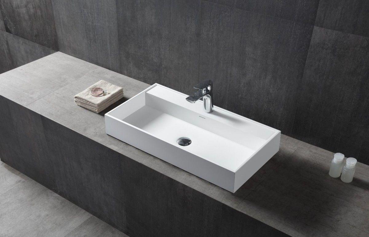 Wandwaschbecken Aufsatzwaschbecken TWG12 aus Mineralguss