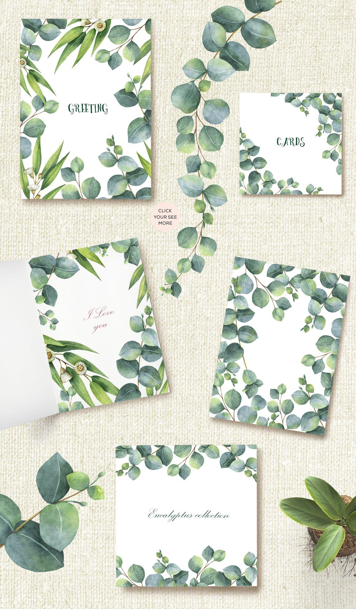 Photo of Watercolor Eucalyptus. by Elena Medvedeva on Creative Market #flowers #clipart #…