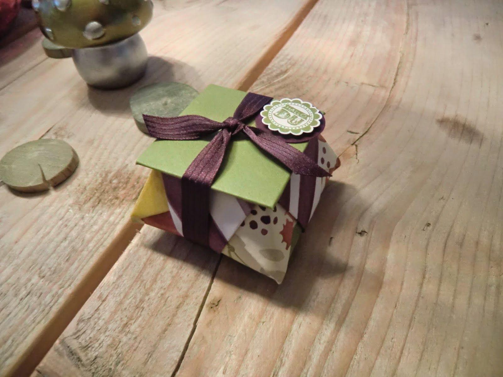 Stampin Up Origami Box mit Deckel mit Eine runde Sache ...