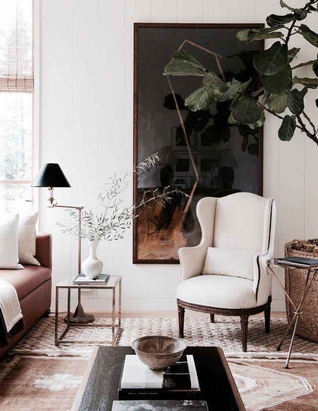 Cuadro grande sillon y plantas depa en 2019 dise o de - Decoracion interiores madrid ...