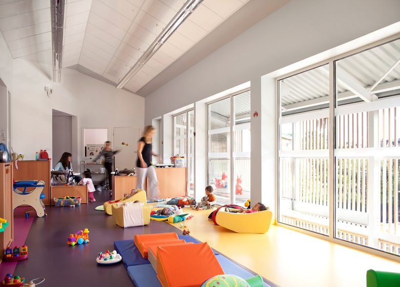 Soa Les Coccinelles Nursery School Paris Indoors Filled With Natural Light