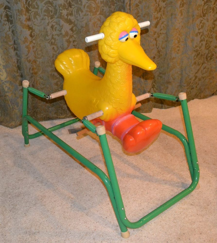 Extremely Rare Vintage Sesame Street Big Bird Rocking