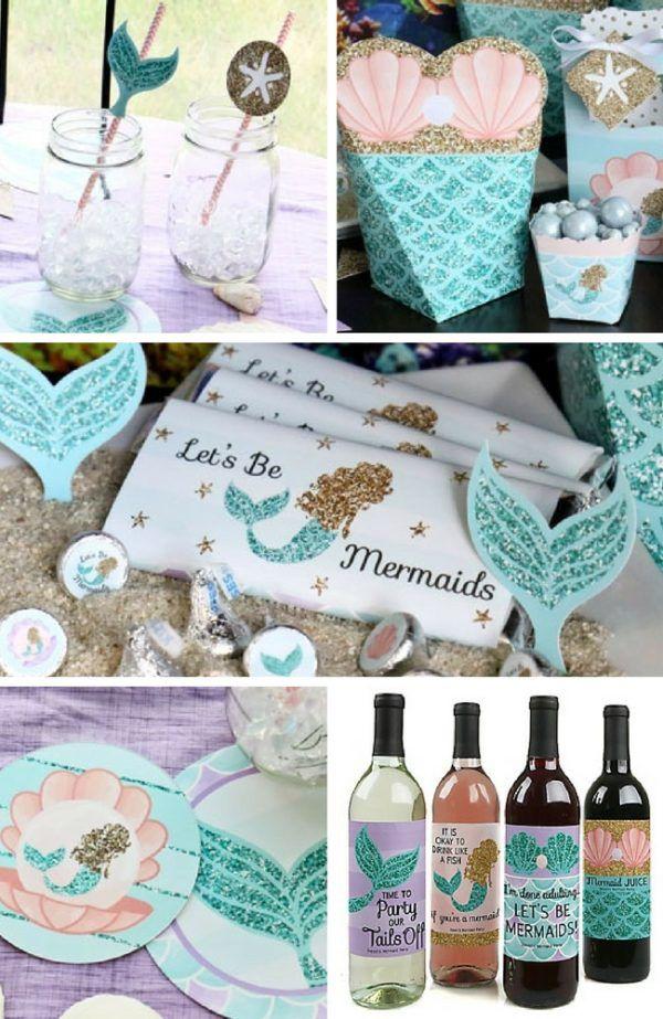 Mermaid Baby Shower Ideas Baby Shower Ideas Pinterest Mermaid