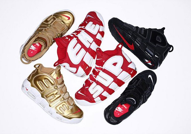 Supreme x Nike Air More Uptempo 'Suptempo' Pack Release Date sneakerfiles .com/
