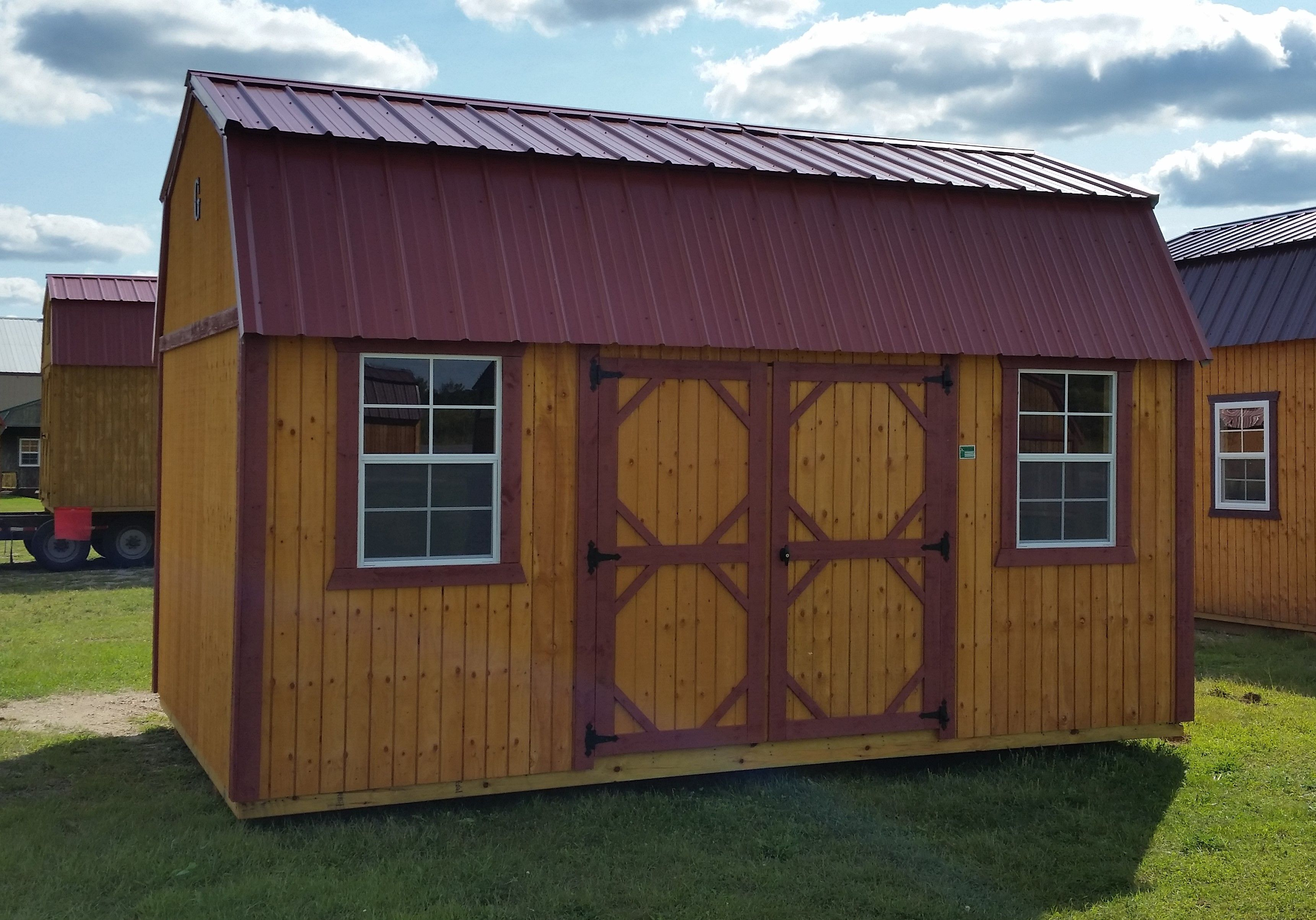Grandview Buildings 10x12 Garden Shed Red steel roof Smartside