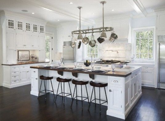 White Kitchen Islands With Seating Make Seating On Both Sides And