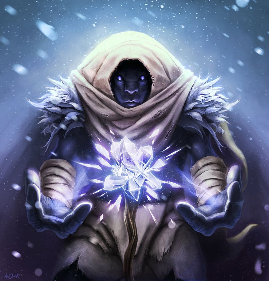 Ice mage by adlovett on deviantart fantasy characters for Cool fantasy drawings