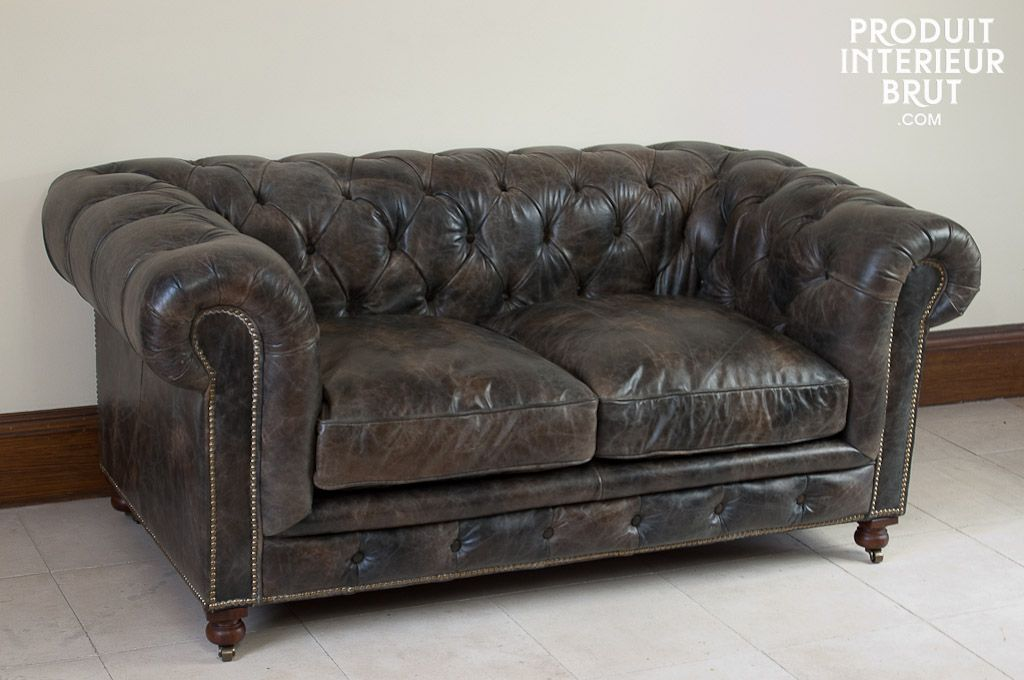 Canape Chesterfield Saint James Cuir Vieilli Canape Chesterfield Canape Cuir Vintage Chesterfield
