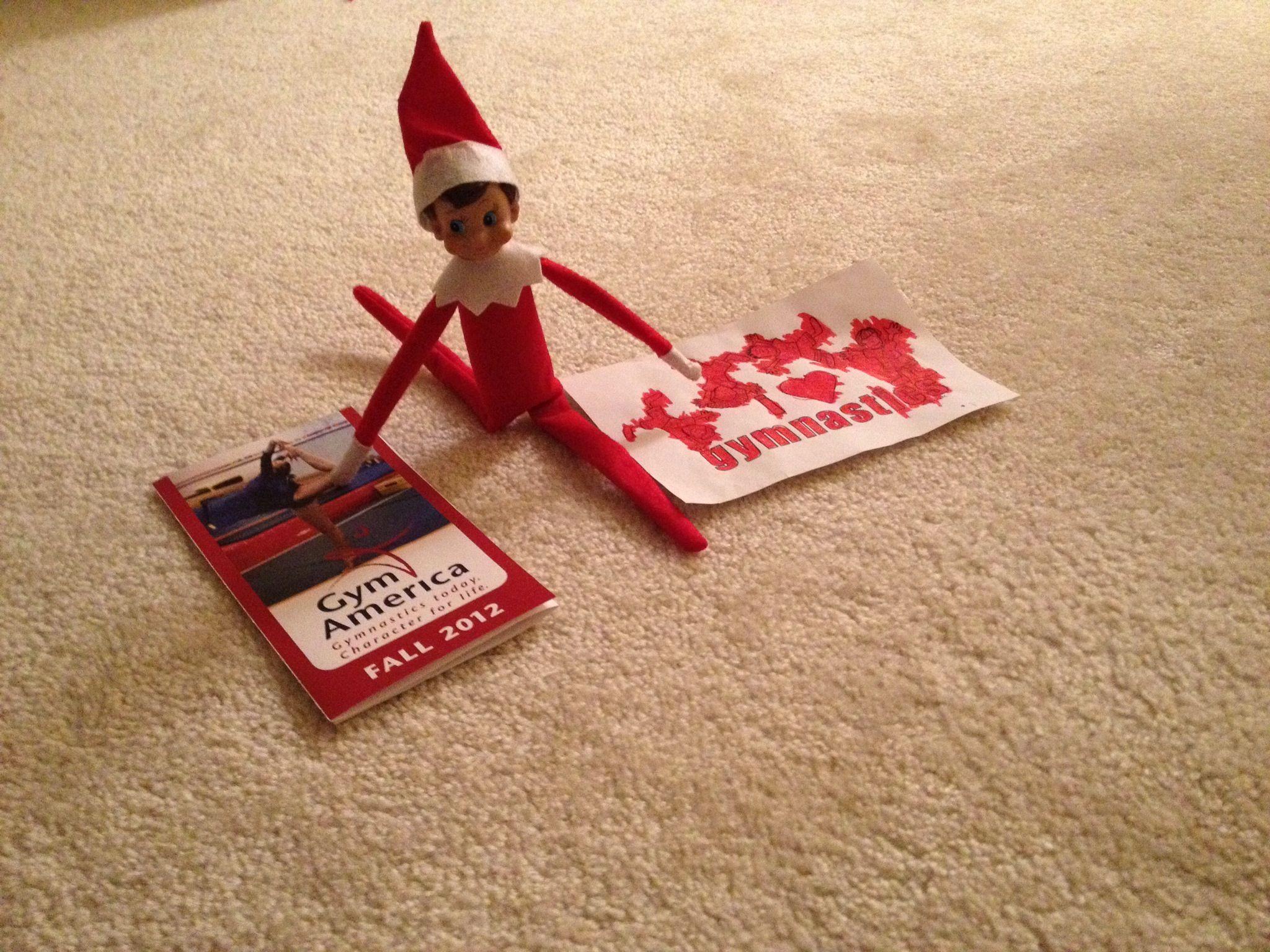 Elf On The Shelf Gymnast Elf On The Shelf Elf The Elf