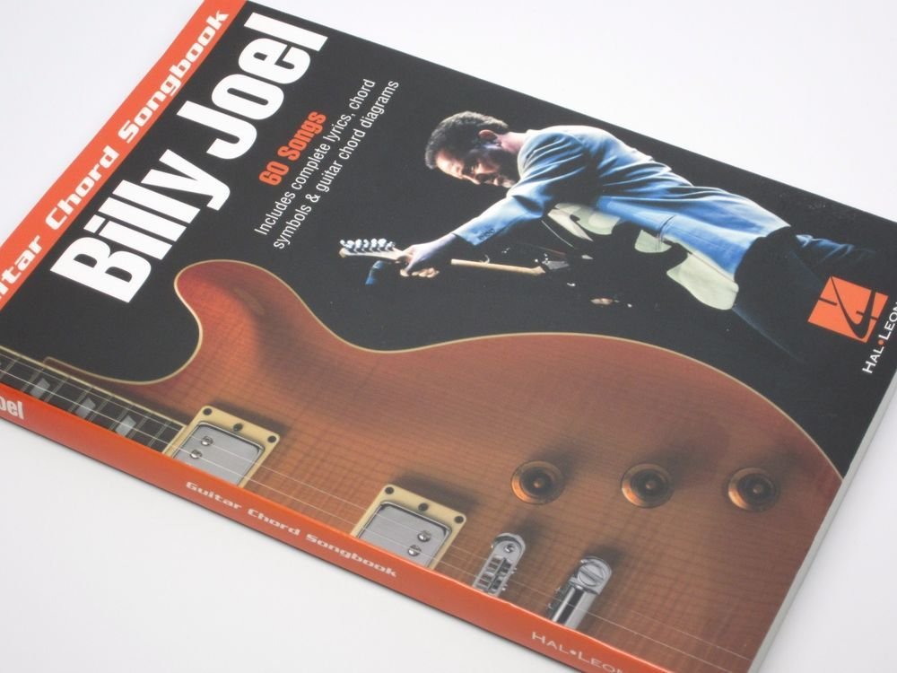 Billy Joel Guitar Chord Songbook, 60 songs, lyrics & chords ...