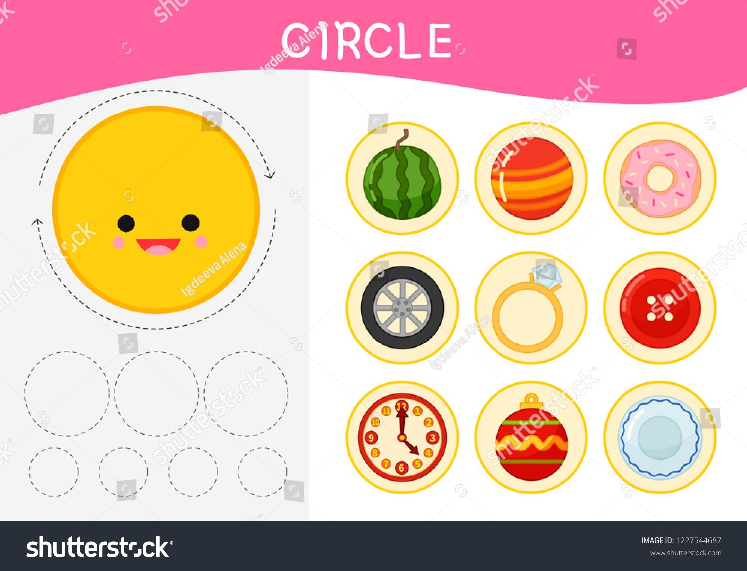 Worksheet For Kids Learning Forms A Set Of Objects In The