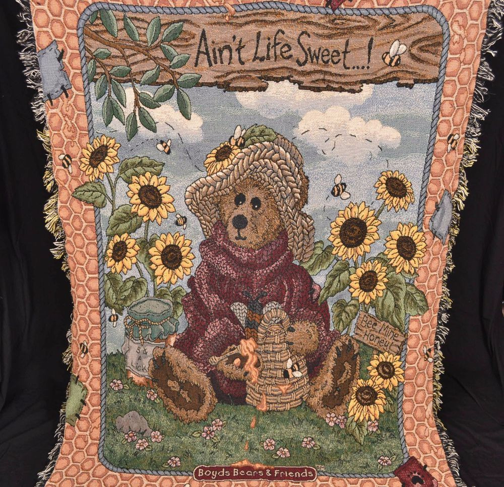 Boyds bears and friends aint life sweet flower woven