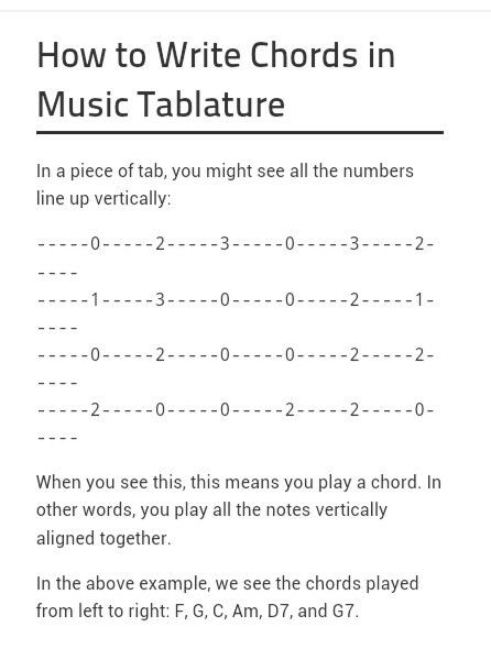 How To Write Tab Chords For Ukulele Ukulele Class Pinterest