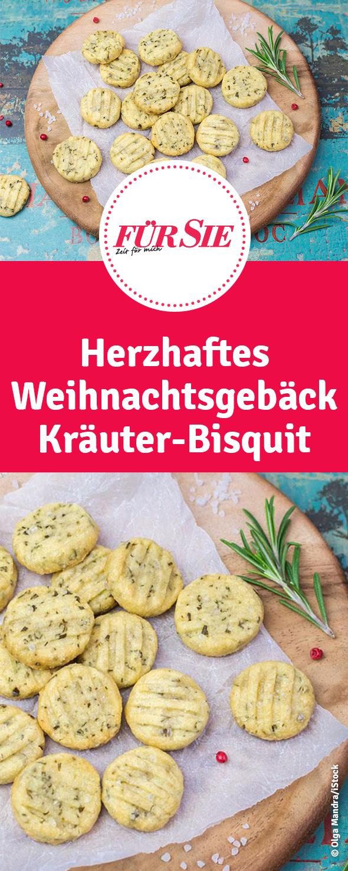 Herzhaftes Weihnachtsgebäck.Pikante Biscuits Mit Italienischen Kräutern Party Food Rezepte