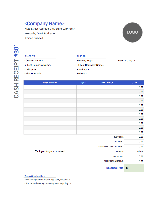 Sample Cash Receipt Template Invoice Template Word Invoice Template Word Template
