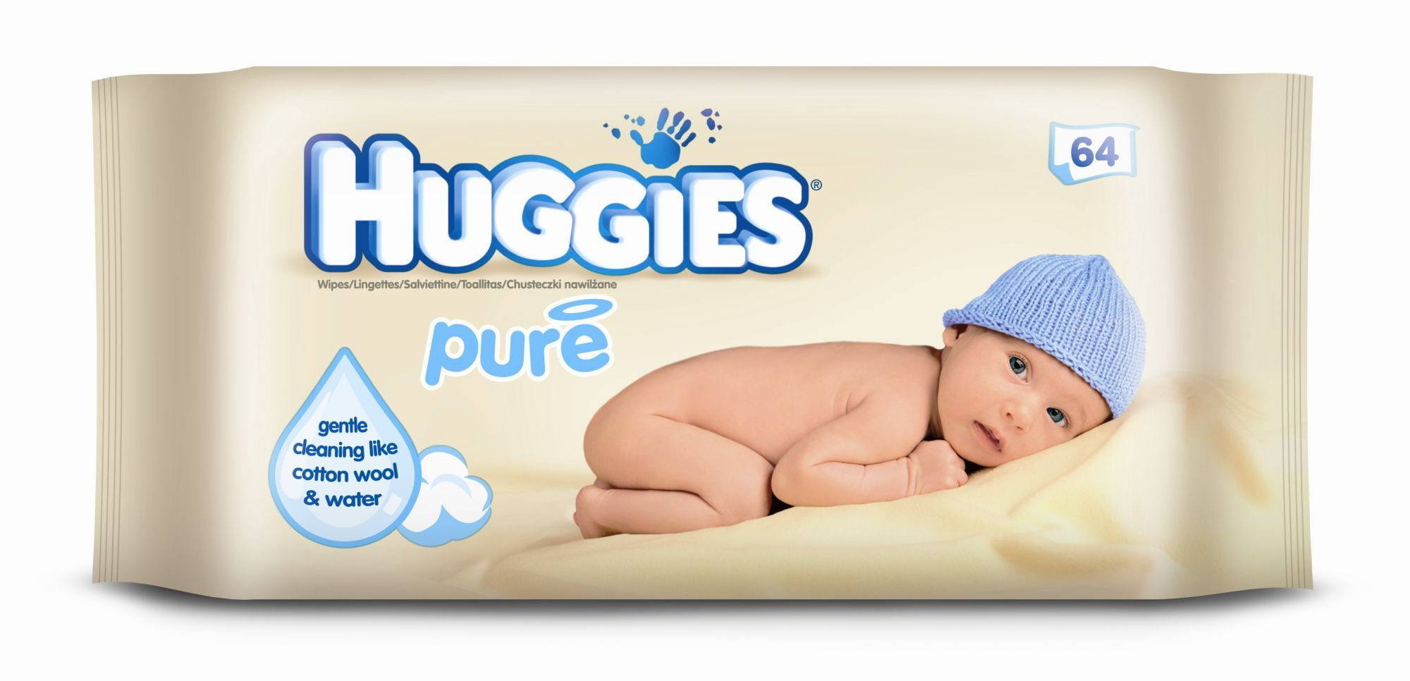 Huggies Pure Single Wipes 56 Pack Babies Baby Baby