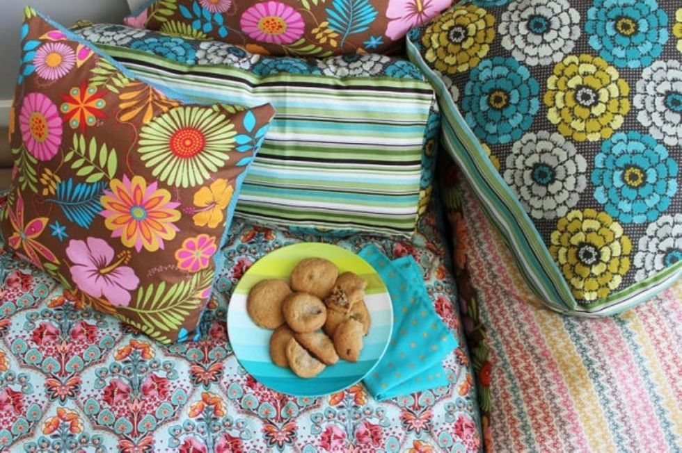 How to Create Your Own Colorful Jumbo Floor Pillows in