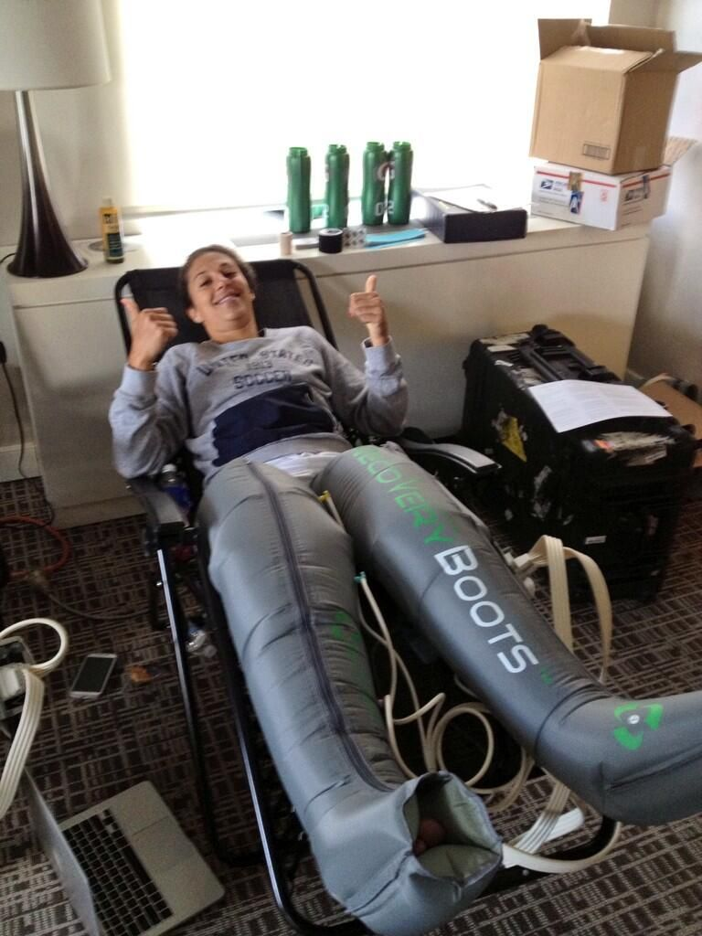 Carli Lloyd In Recovery Pump Boots Twitter Boot Pumps
