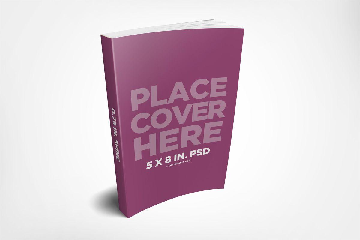 5 X 8 Paperback Ebook Mockup Template Covervault In 2021 Mockup Template Mockup Ebook