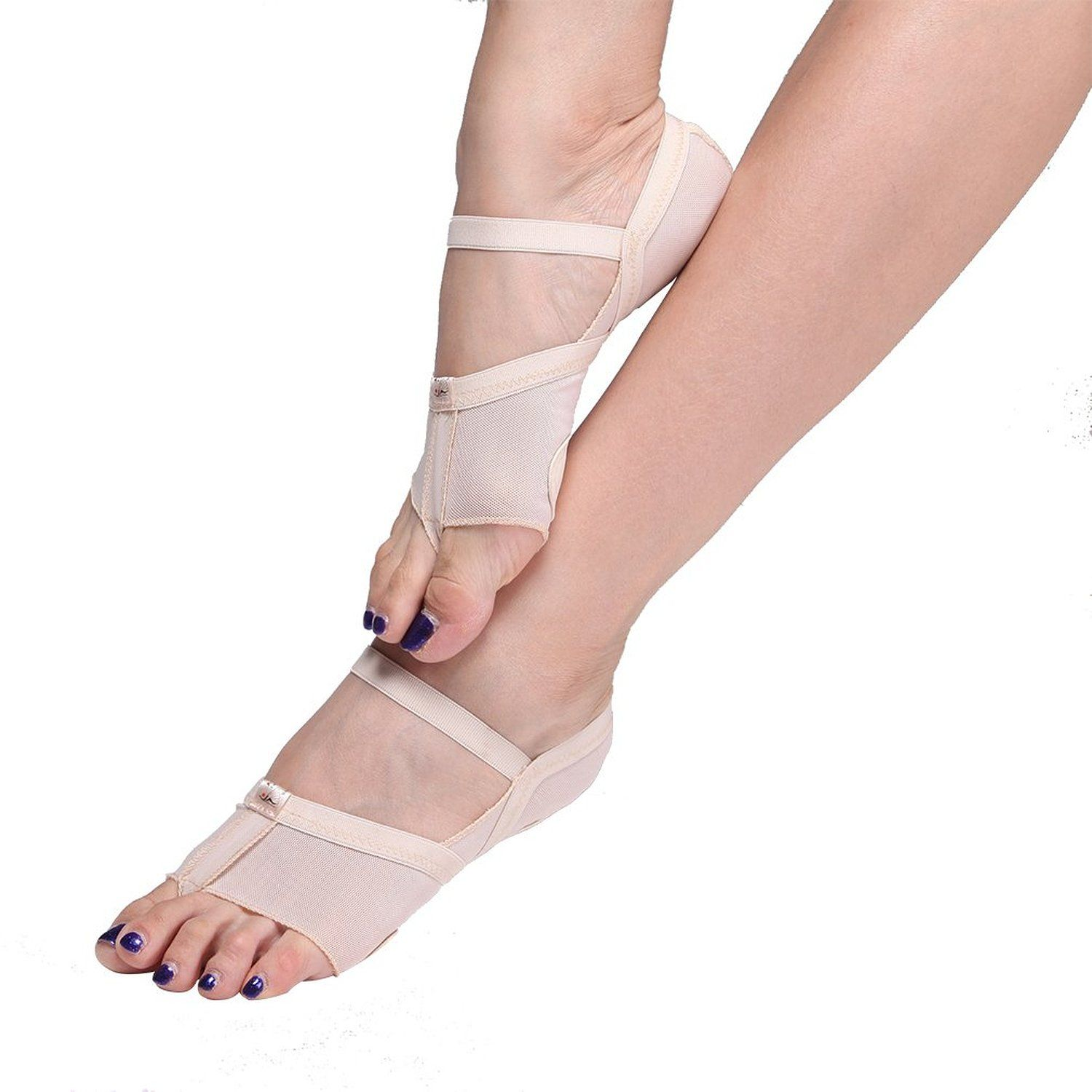UPRIVER GALLERY Lyrical Ballet Foot Thong Moden Dance Paw Pads Shoes Fitness