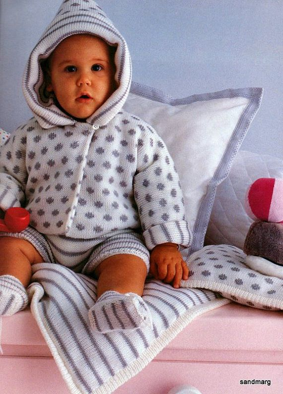 07bc23560888 Pingouin Nr 92 Six Adorable Layettes for Baby Knitting