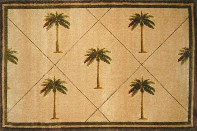 Fun Time Palm Fonds Tree Novelty Rug
