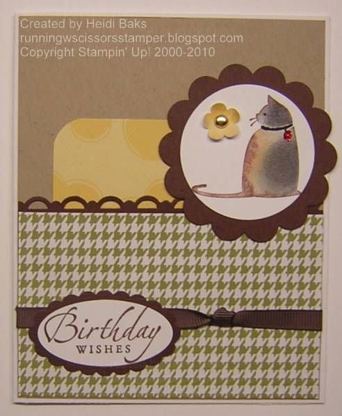 Stampin' Up! C is for Cat. Birthday Cat for Mom