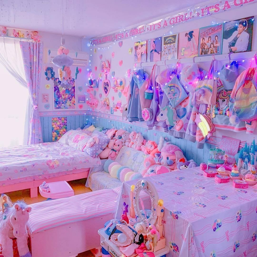 Kawaii So Cute Trops Mignon Kawaii Bedroom Kawaii Room Otaku Room