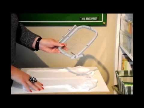 ▶ Machine Embroidery Basics. Preventing puckers, stabilizing and hooping. - YouTube