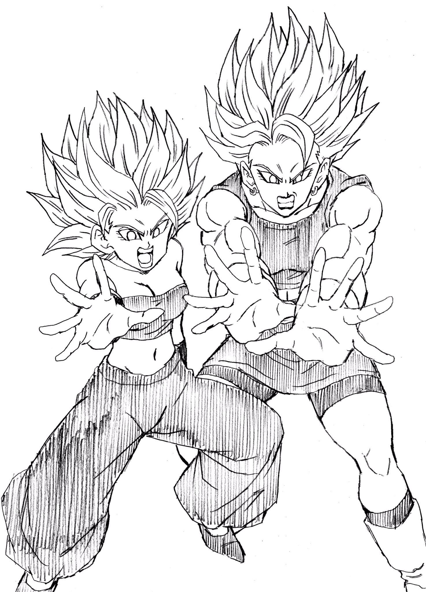 Caulifla Y Kale Dragon Ball Dibujos De Dragon Dragon Ball Y