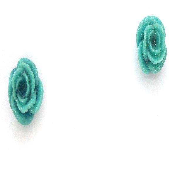 Brinco de flor azul. Compre online: www.santta.com.br