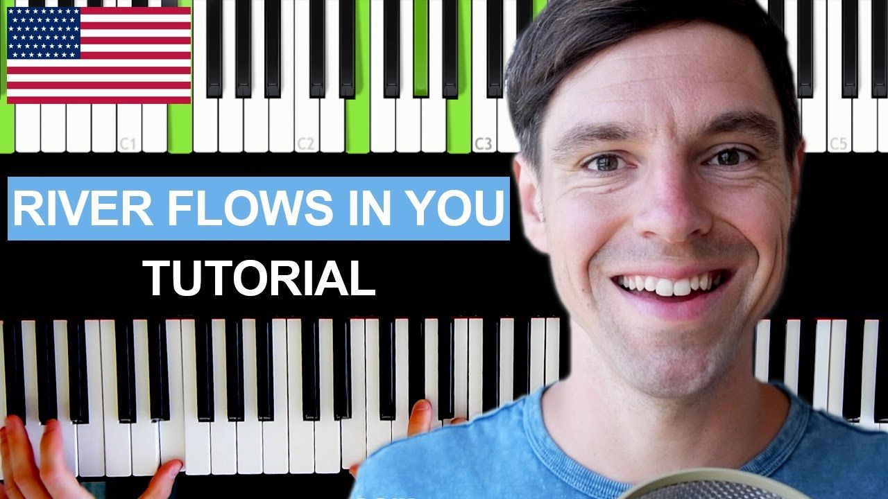 How to play river flows in you on piano tutorial easy