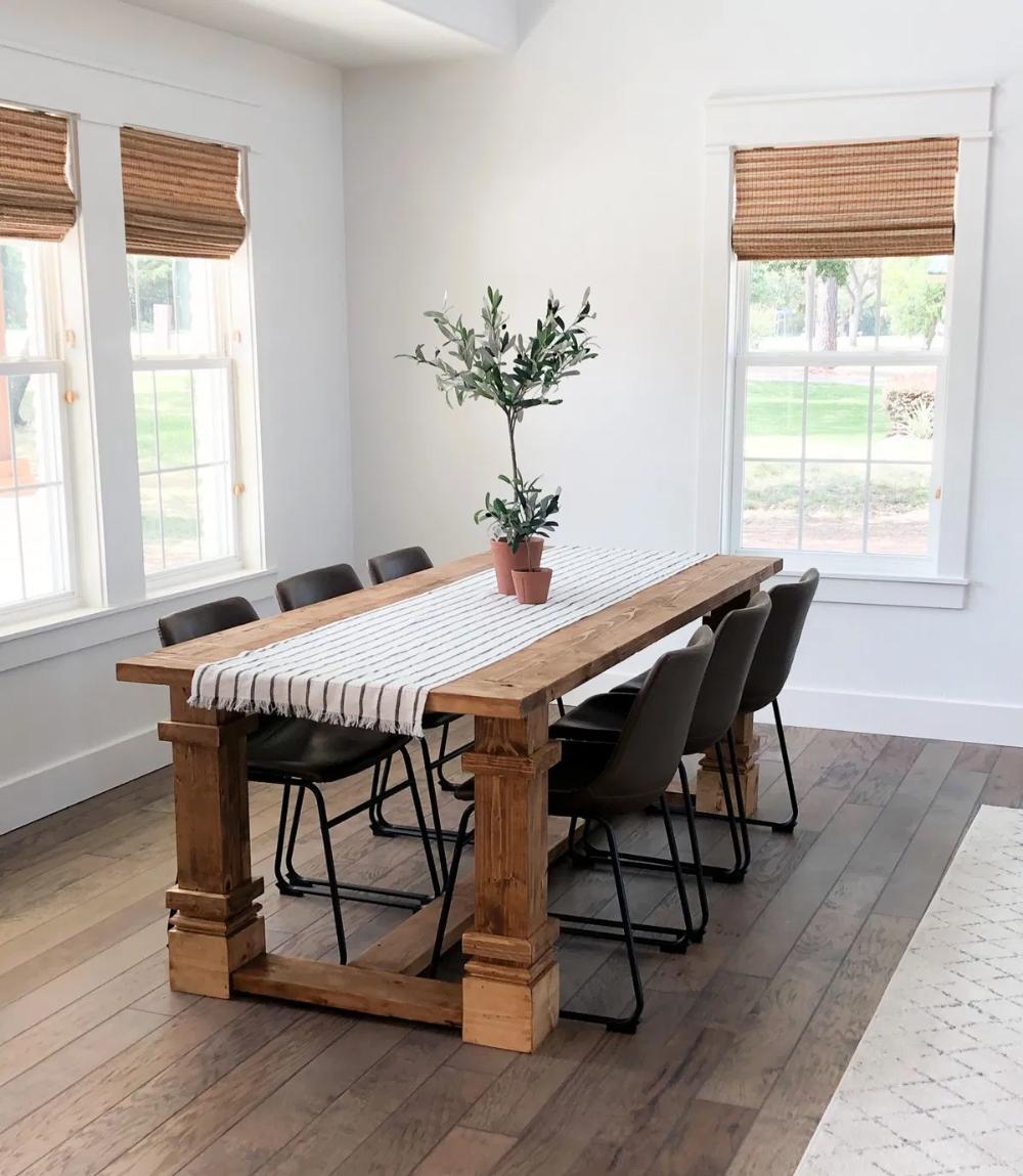 Flip House Final Reveal! Diy dining table, Farmhouse