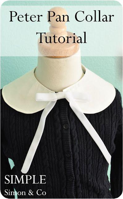 Peter Pan Collar Tutorial | Fabric | Pinterest | Kragen ...