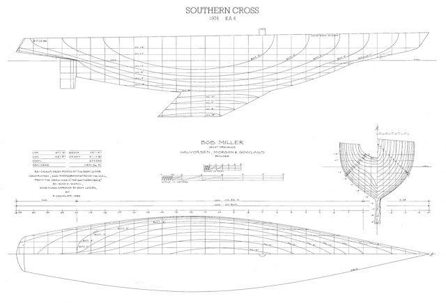 Lines Of Southern Cross 1974 Bob Miller Ben Lexcen Design Boat